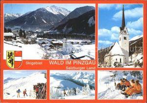 Wald Pinzgau Kirche Ski  Kat. Wald im Pinzgau