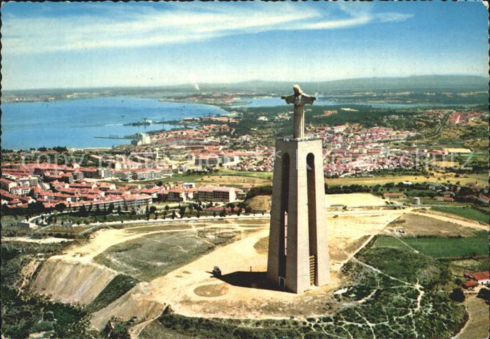 Almada Monument to the Christ King Aerial view Kat. Almada