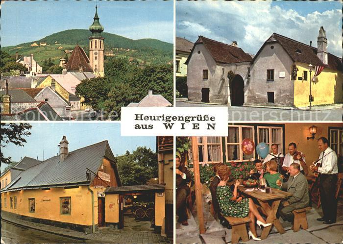 Wien Grinzing Beethovenhaus Heiligenstadt Heuriger in Grinzing Kat. Wien