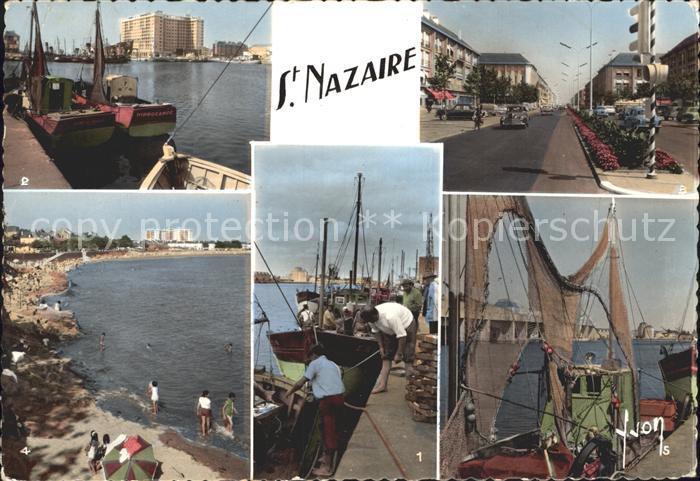 Saint Nazaire Loire Atlantique Un coin du Port Nouveau Building Avenue de la Republique La Plage La Base sous Marine Kat. Saint Nazaire