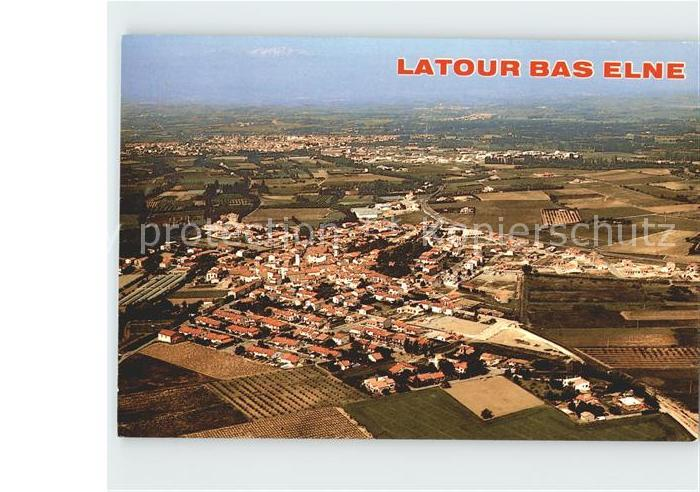 Latour Bas Elne Fliegeraufnahme Kat. Latour Bas Elne