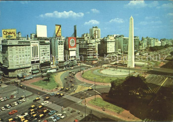 Buenos Aires Avenida 9 de Julio Obelisco Kat. Buenos Aires