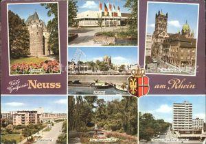Neuss Obertor Hafen Stadthalle Im Rosengarten Kat. Neuss