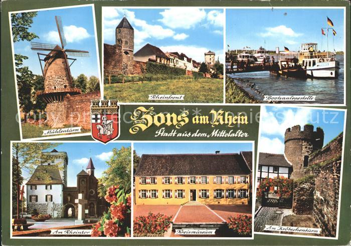 Zons Rheinfront Kreismuseum Am Rheintor Kroetschenturm Kat. Dormagen