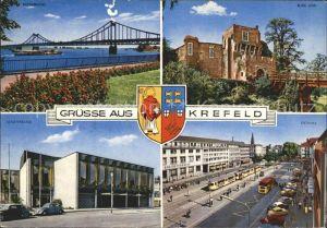 Krefeld Burg Linn Ostwall Stadttheater Rheinbruecke Kat. Krefeld