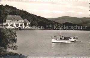 Attendorn Gasthaus Listertalsperre Motorboot Kat. Attendorn