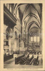 Bamberg Dom mit Blick zum Georgenchor Kat. Bamberg