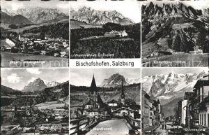 Bischofshofen mit Tannengebirge Missionshaus St Rupert Arthurhaus Mandlwand und Hochkoenig Strassenpartie Kat. Bischofshofen