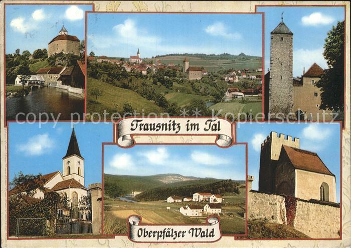 Trausnitz Stausee Burg Kirche Panorama Burgturm Kat. Trausnitz