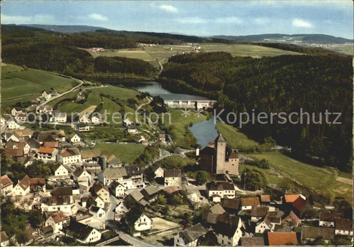 Trausnitz Fliegeraufnahme Schloss Stausee Kat. Trausnitz