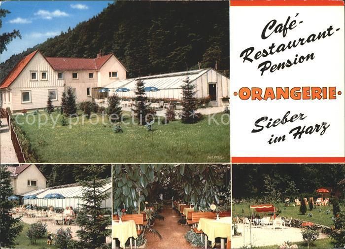 Sieber Cafe Restaurant Pension Orangerie Luftkurort Siebertal Kat. Herzberg am Harz