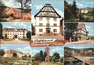 Rotenburg Fulda Aussichspunkt Schloss Turm Fachwerk Bruecke Kat. Rotenburg a.d. Fulda