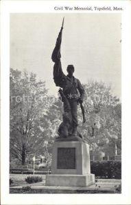 Topsfield Massachusetts Civil War Memorial Kat. Topsfield