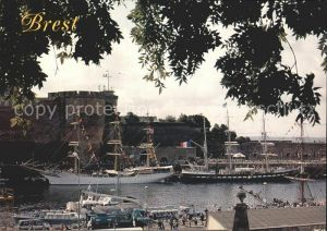 Brest Finistere Grand port de guerre La Prefecture Maritime Le 3mats carre norvegien Sorlande et francais Le Belem Kat. Brest