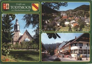 Todtmoos Kirche Ortsansicht Strassenpartie Kat. Todtmoos