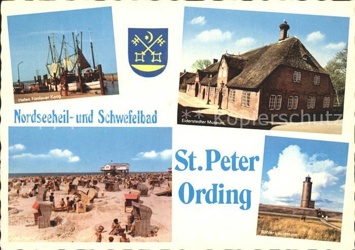 St Peter Ording Hafen Eiderstedter Museum Strand Leuchtturm Kat. Sankt Peter Ording