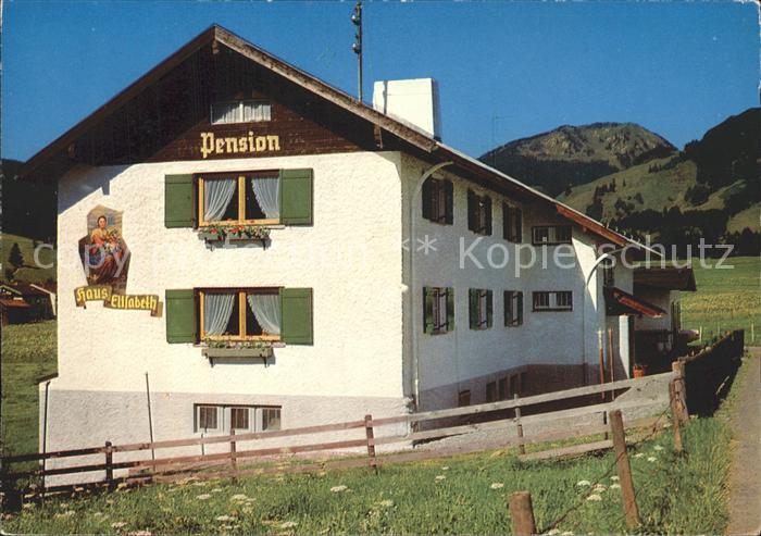 Fischen Allgaeu Berg Pension Erholungsheim Haus Elisabeth Kat. Fischen i.Allgaeu