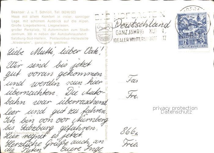 Anif Gaestehaus Weinleitner Niederalm Kat. Anif 1