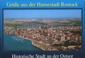 Rostock Mecklenburg Vorpommern Hansestadt an der Warnow Fliegeraufnahme Kat. Rostock