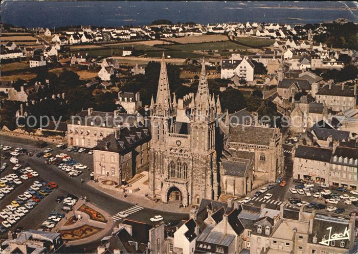 Saint Pol de Leon Fliegeraufnahme mit Cathedrale Kat. Saint Pol de Leon