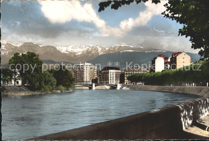 Grenoble et Pont de la Porte de France Kat. Grenoble