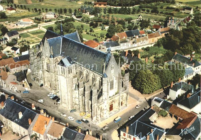 Clery Saint Andre Fliegeraufnahme Basilika Notre Dame de Clery Kat. Clery Saint Andre