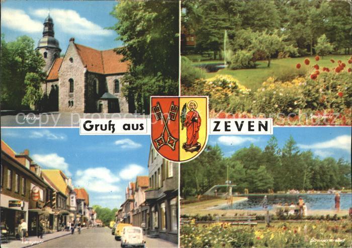 Zeven Kirche Langestrasse Schwimmbad  Kat. Zeven