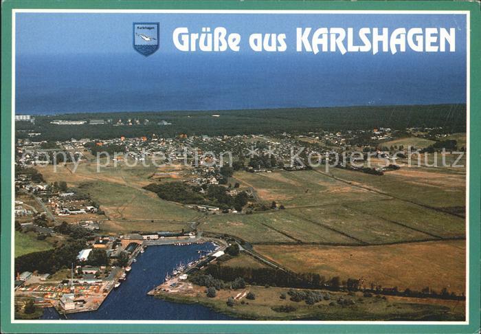 Karlshagen Fliegeraufnahme Kat. Karlshagen Usedom