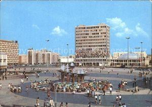 Berlin Alexanderplatz mit Blick zum Haus des Lehrers Kat. Berlin