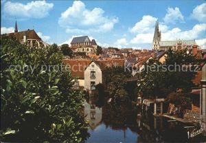 Chartres Eure et Loir L eglise Saint  Pierre l`eglise Saint  Aignan Kat. Chartres