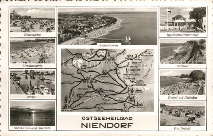 Niendorf Ostseebad Fliegeraufnahme Strand Hafen / Timmendorfer Strand /Ostholstein LKR