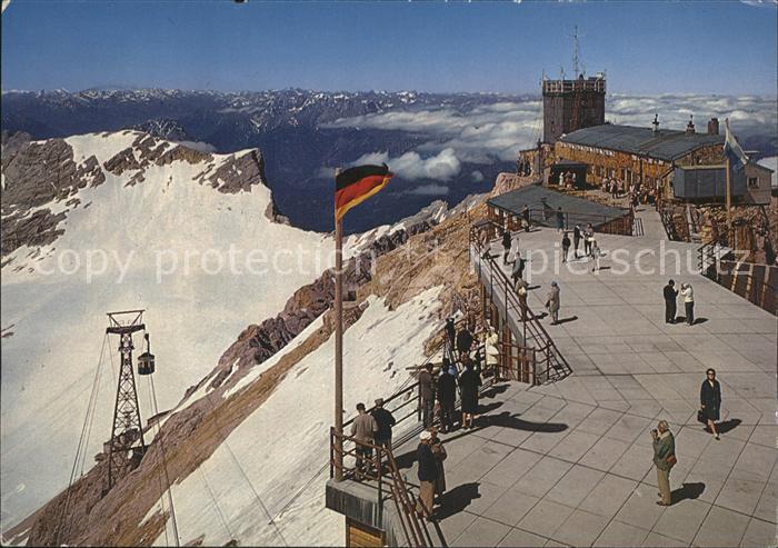 Zugspitze Muenchner Haus Aussichtsterrasse Bayrische