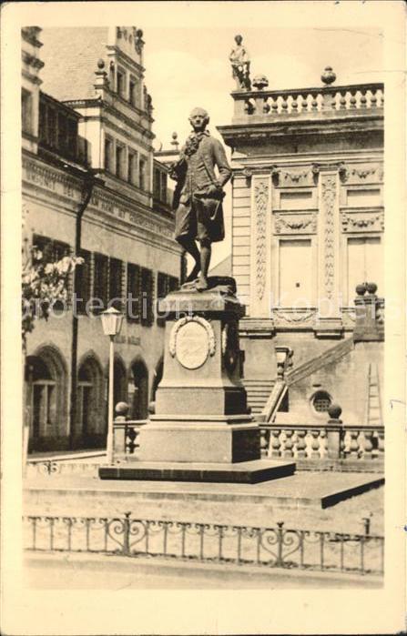 Leipzig Goethe Denkmal Statue Kat. Leipzig