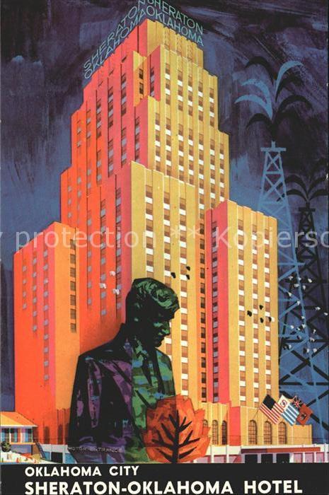 Oklahoma City Sheraton Hotel Illustration Kat. Oklahoma City