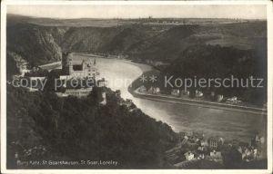 St Goarshausen Burg Katz St Goar Loreley Rhein Kat. Sankt Goarshausen