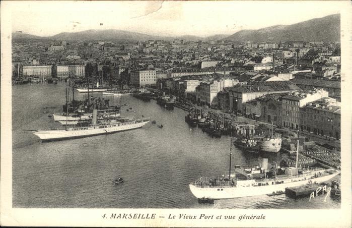 France marseille vue g n rale du vieux port hafe - Promenade bateau marseille vieux port ...