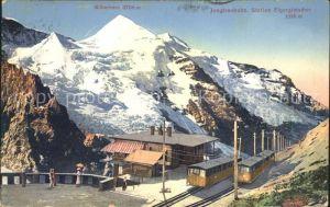 Jungfraubahn Station Eigergletscher mit Silberhorn  Kat. Jungfrau