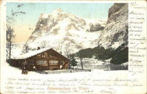 Bern BE Schweizerhaus im Winter Kat. Bern