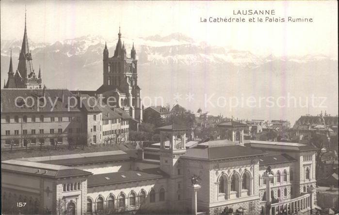 Lausanne VD Cathedrale et Palais Rumine Kat. Lausanne