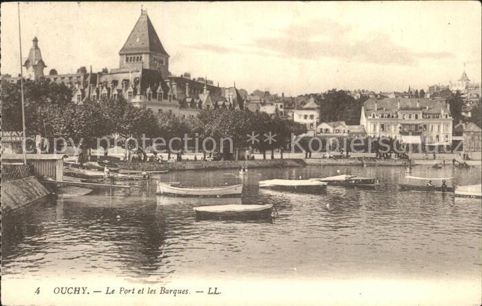 Ouchy Port et Barques Kat. Lausanne