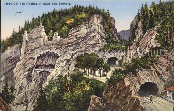 Col des Roches et route des Brenets Kat. Roches Col des