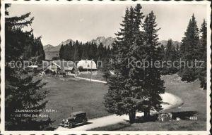 Jaunpass Passhoehe mit Hotel des Alpes Kat. Jaun