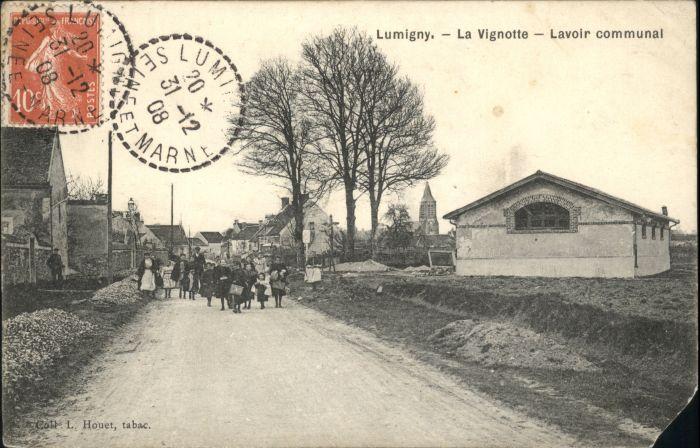 Lumigny-Nesles-Ormeaux Lumigny Vignotte Lavoir Communal x / Lumigny-Nesles-Ormeaux /Arrond. de Provins