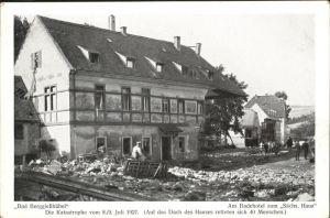 Berggiesshuebel Katastrophe 8./9. Juli 1927 Badehotel Saechsisches Haus / Bad Gottleuba-Berggiesshuebel /Saechsische Schweiz-Osterzgebirge LKR