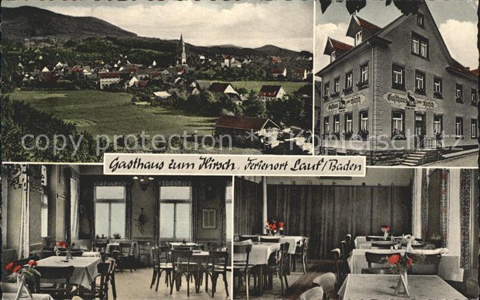 Lauf Baden Gesamtansicht Gasthaus zum Hirsch Kat. Lauf