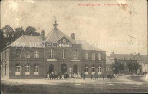 Hannapes La Mairie et les Ecoles Kat. Hannapes