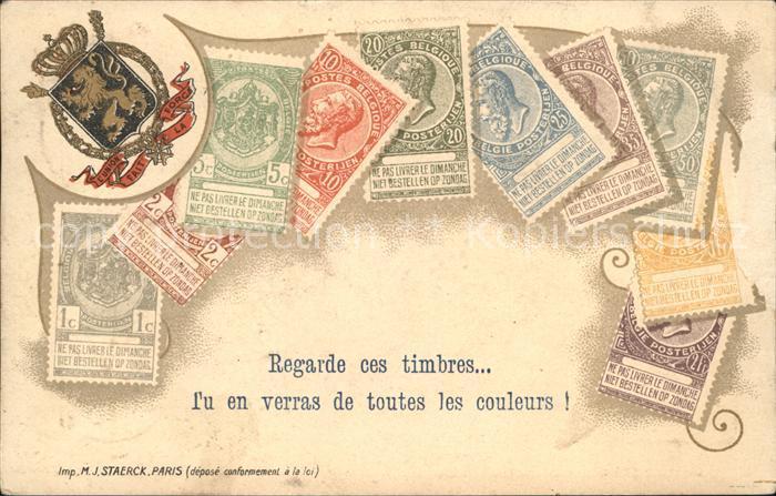 Paris Timbres Briefmarken Wappen Krone Kat. Paris