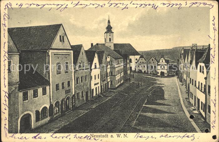 Neustadt Waldnaab Strassenpartie Kirche Kat. Neustadt a.d.Waldnaab
