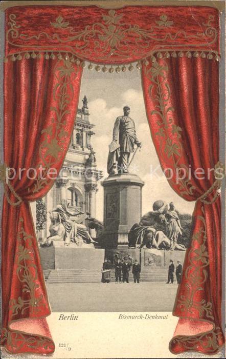 Berlin Bismarck Denkmal Kat. Berlin