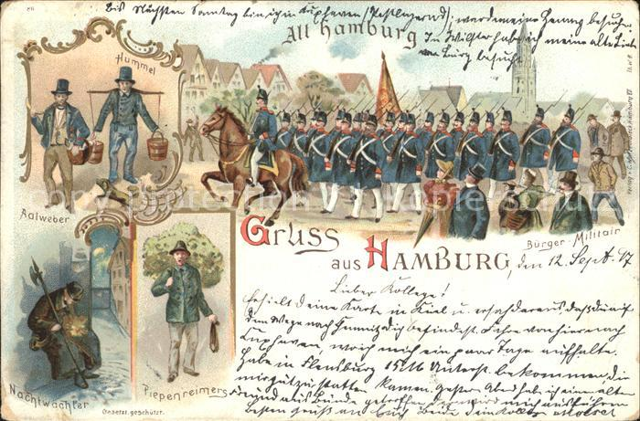 Hamburg Buerger Militair Kat. Hamburg